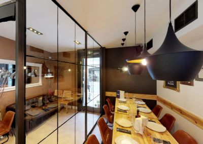 Fotografia profesional de interiorismo, restaurante La Mafia Se
